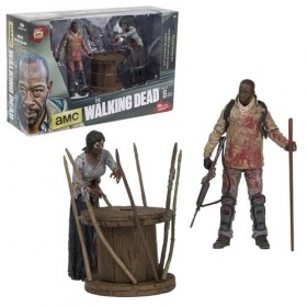 Walking Dead TV Series Morgan and Impaled Walker Deluxe Action Figure Box Set